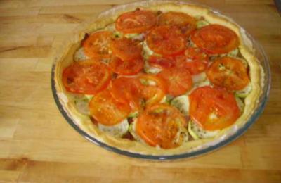 tarte au chèvre tomates et courgettes